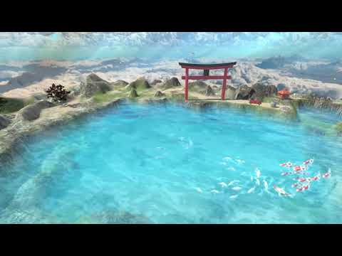 koi-carp-and-butterfly-heaven-tv-screensaver-animation-3d