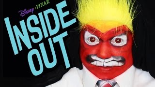 INSIDE OUT ANGER MAKEUP TUTORIAL! (Disney