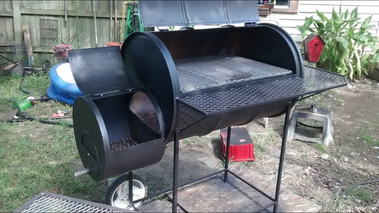 55 Gallon Barrel Smoker Build Youtube