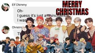 BTS Texts- Merry Christmas (Ft. Enhypen, TXT, Bang PD, Ironman, G-Dragon)