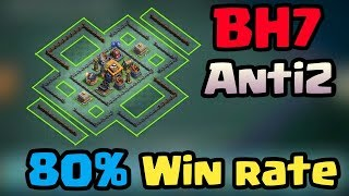 BH7(Builder hall 7) Best Anti2 Base layout with 80% win rate|CLASH OF CLANS