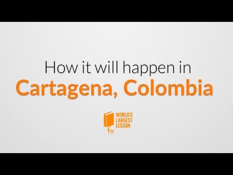 World's Largest Lesson in Cartagena, Co