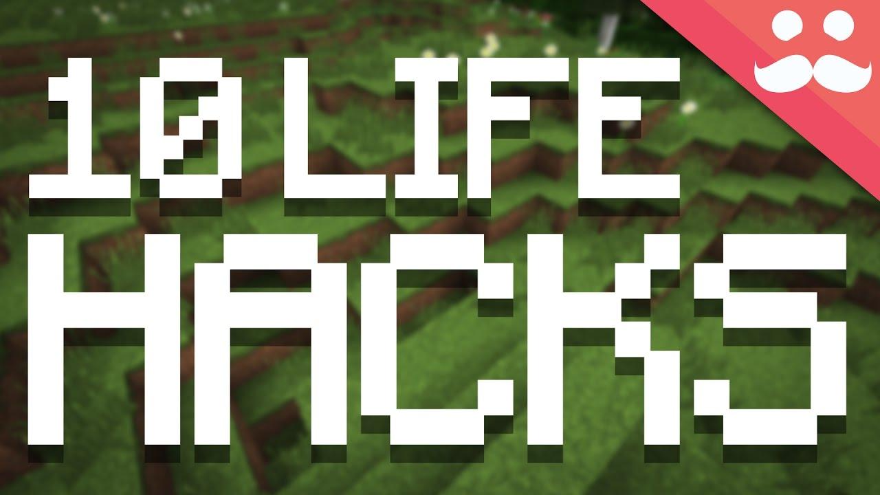 Top 9 Life Hacks in Minecraft!
