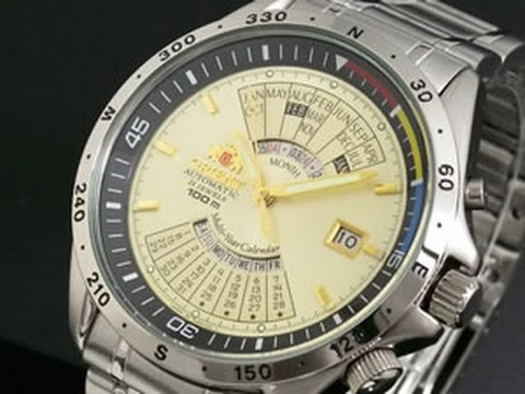 Perpetual Calendar Watch >> Orient multi year calendar FEU03002CW EU03002CW SEU03002CW automatic watch - YouTube