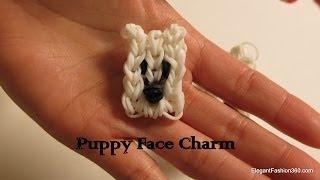 Rainbow Loom Dog/puppy Face Charm 2d