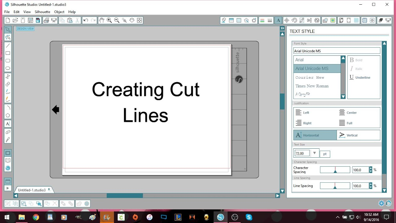 Make The Cut >> Silhouette Studio Creating Cut Lines