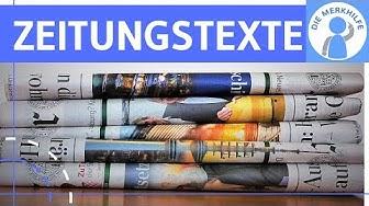 Typen von Zeitungstexten - Meldung, Bericht, Reportage, Kommentar - Texte unterscheiden & schreiben