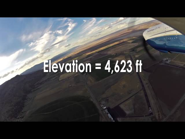 Watch us fly into Cedarville Airport - California