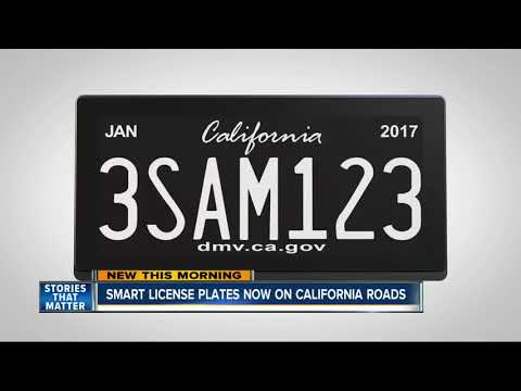 Smart license plates hitting California roads