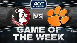 Game of the Week | Florida State vs Clemson | ACCDigitalNetwork