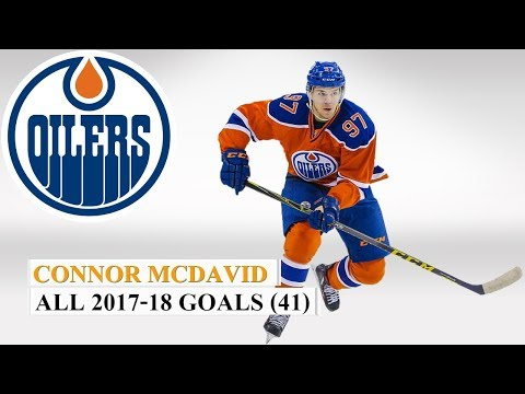 Connor McDavid (#97) All 41 Goals of the 2017-18 NHL Season