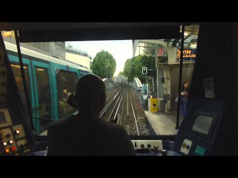 Fahrersicht: Metro Paris RATP Ligne 2 [MF01] - engineers eye - cab ride - Métropolitain de Paris