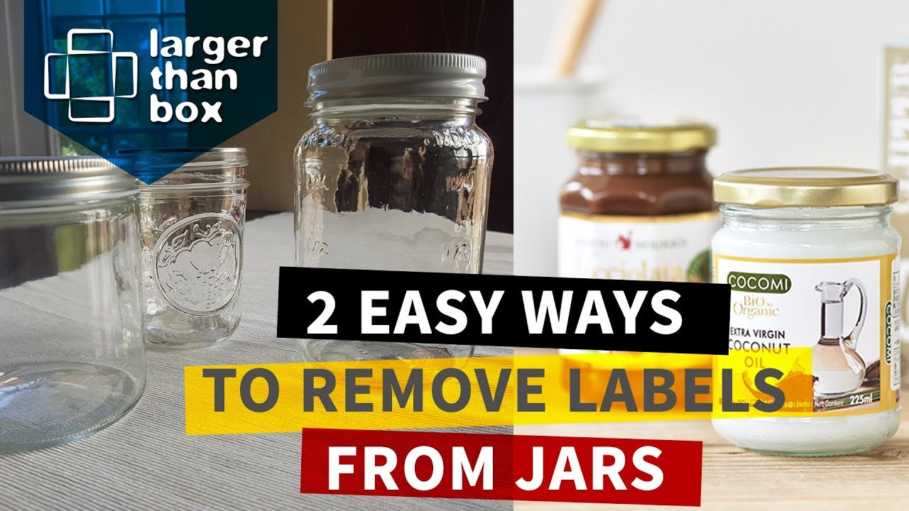 how to remove sticky labels stickers from glass jars and bottles quick and easy youtube. Black Bedroom Furniture Sets. Home Design Ideas
