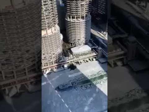 36e823e855 Ice breaker pushes up frozen Chicago River - YouTube