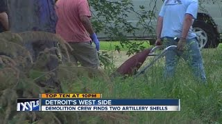 Naval shells found in Detroit home