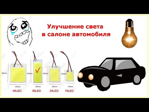 Улучшение света в салоне автомобиля LED Lamp