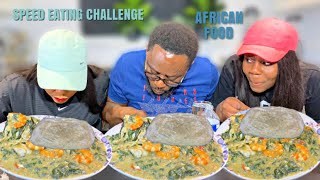 THE ULTIMATE SPEED EATING CHALLENGE | OKRA SOUP AND FUFU MUKBANG