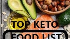 TOP KETO FOOD LIST / TOP KETO Lebensmittel Liste