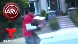 Hombre graba a un ladrón robando el auto de un vecino | Al Rojo Vivo | Telemundo