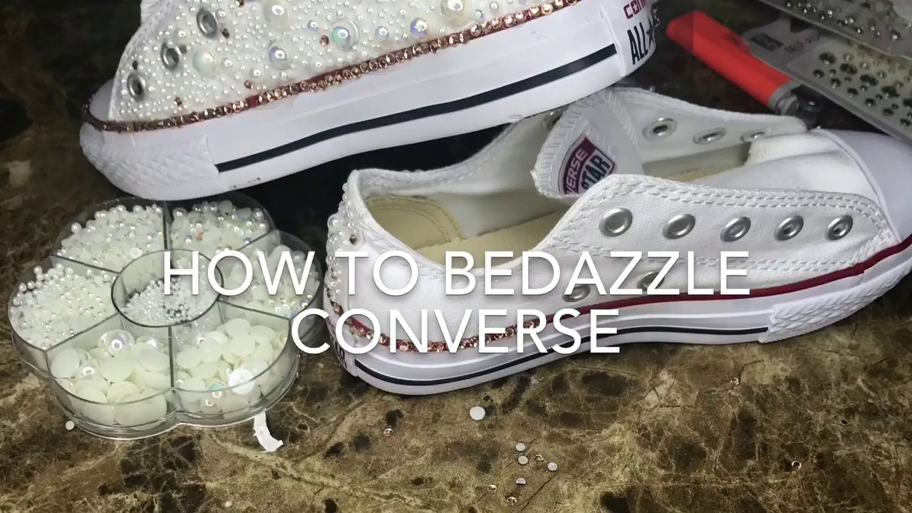 How To Make Wedding Converse Shoes