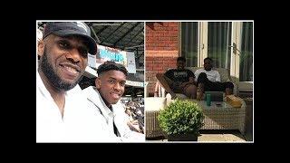 Lovely photo of football legend Jay-Jay Okocha and his cute son