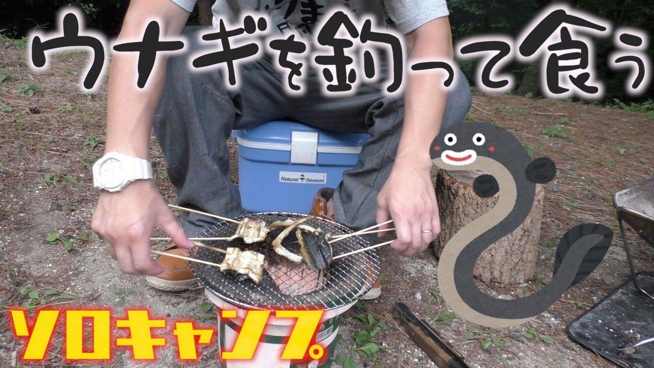 【ソロキャンプ】釣ったウナギを蒲焼にした話【素人】