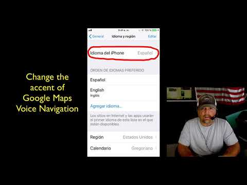 How To Change iPhone Language Accent Of Google Maps Voice Navigation Change The Voice On Google Maps on