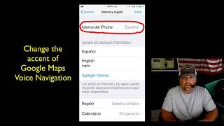How To Change iPhone Language Accent Of Google Maps Voice Navigation