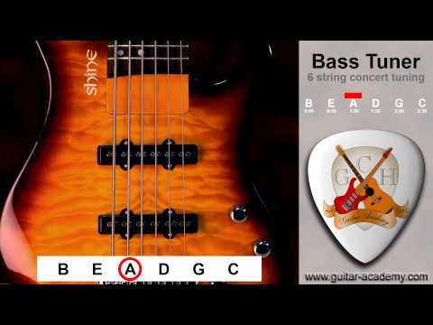 6 string Bass tuner - tune your six string bass