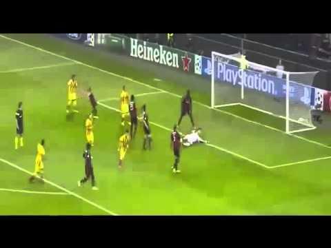 AC Milan Vs Barcelona 1-1 Goals & Highlights HD 22-10-2013