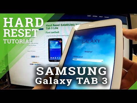 Hard Reset SAMSUNG Galaxy Tab 3 - Using The Recovery Mode