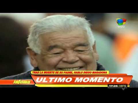 Diego Maradona y un mensaje de adiós a su padre