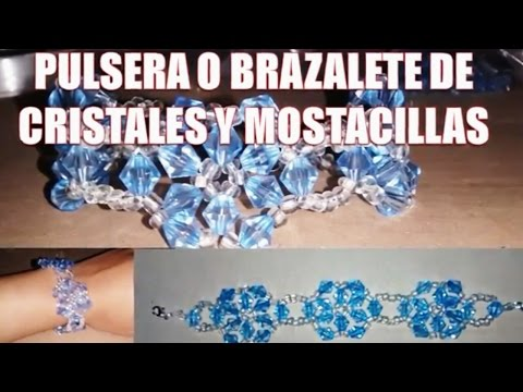 Flower bracelet with Crystals and seed beads - Fine jewelry (tutorial)