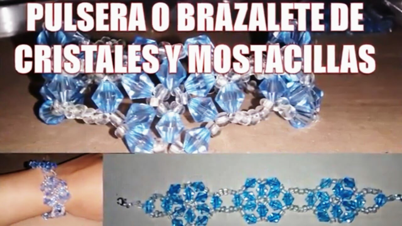 1816786480bf Flower bracelet with Crystals and seed beads - Fine jewelry (tutorial)