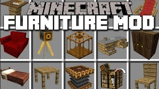Minecraft HOUSE FURNITURE MOD / MAKE A REALISTIC HOUSE WITH FURNITURE!! Minecraft