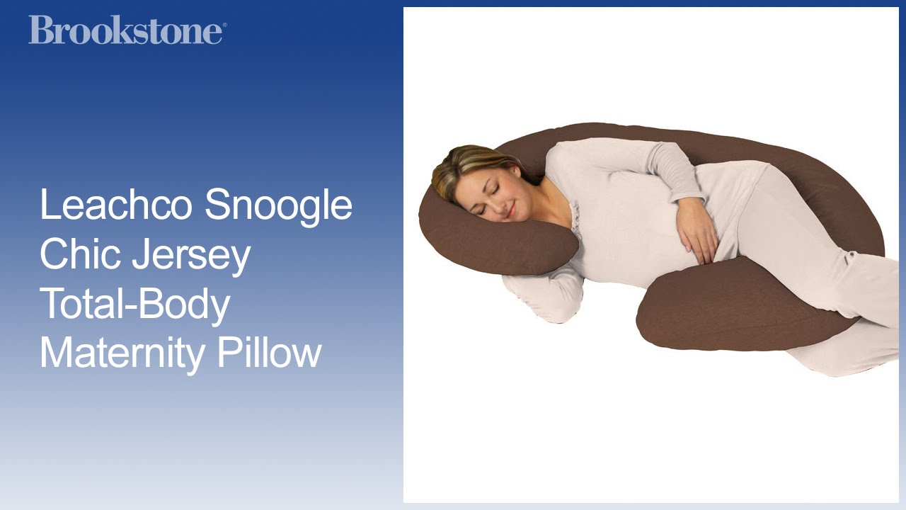 Leachco Snoogle Chic Jersey Total Body Maternity Pillow Youtube