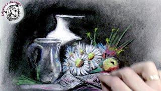 Como Pintar un Bodegón al Pastel y Carboncillo: Tecnicas de pintura al Pastel