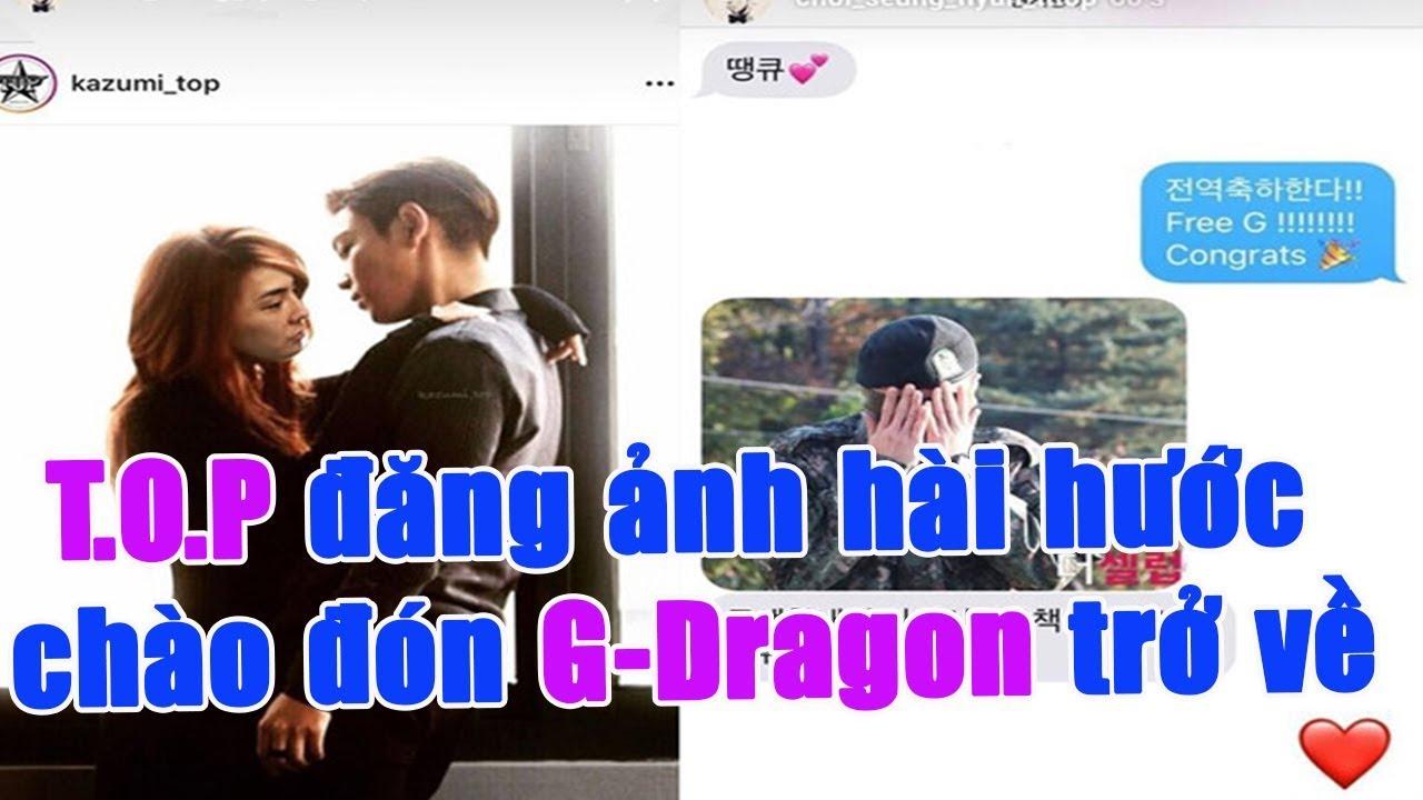 T.O.P đăng ảnh hài hước chào đón G-Dragon trở về l Newsfeed 27.10.2019