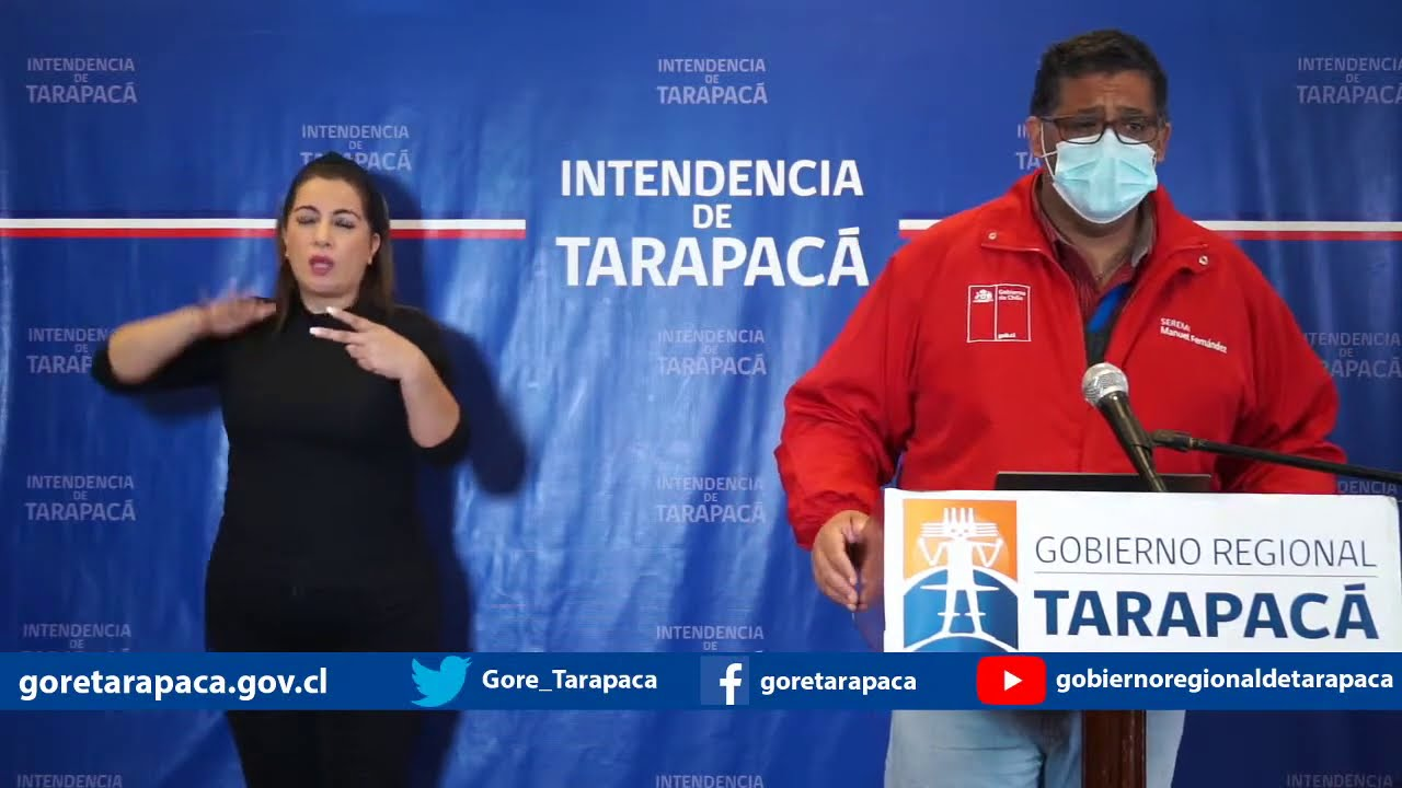 Punto de prensa 02 de agosto de 2020 - Gobierno Regional de Tarapacá