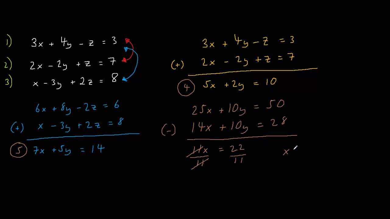 Solution Of 3 Linear Equations Calculator  system of