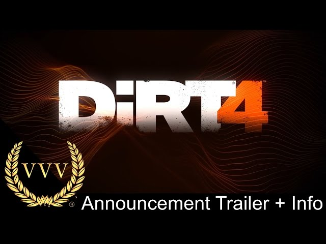 Dirt 4 Announcement Trailer and Info