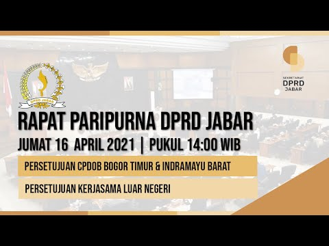 Rapat Paripurna DPRD Provinsi Jawa Barat (16/04/2021)