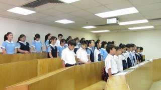 顯理中學合唱團堅浸獻唱練習