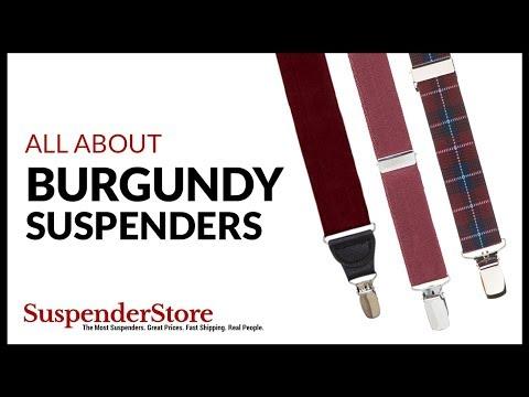 Burgundy Suspenders
