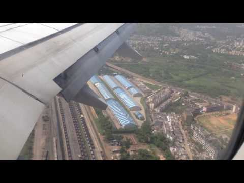 Landing in Visakhapatnam by Spicejet SG-502 from Coimbatore