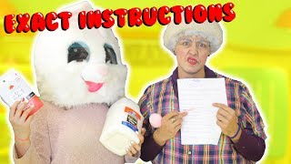 EXACT INSTRUCTIONS CHALLENGE with Grandma Büurda | following directions | Slimeatory #166 thumbnail