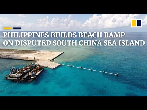 Philippine Officials Unveil Beaching Ramp On Disputed South China Sea Island