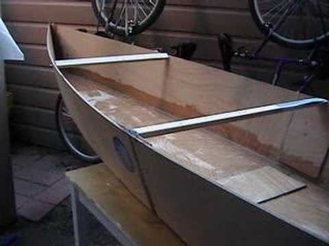 home made plywood canoe