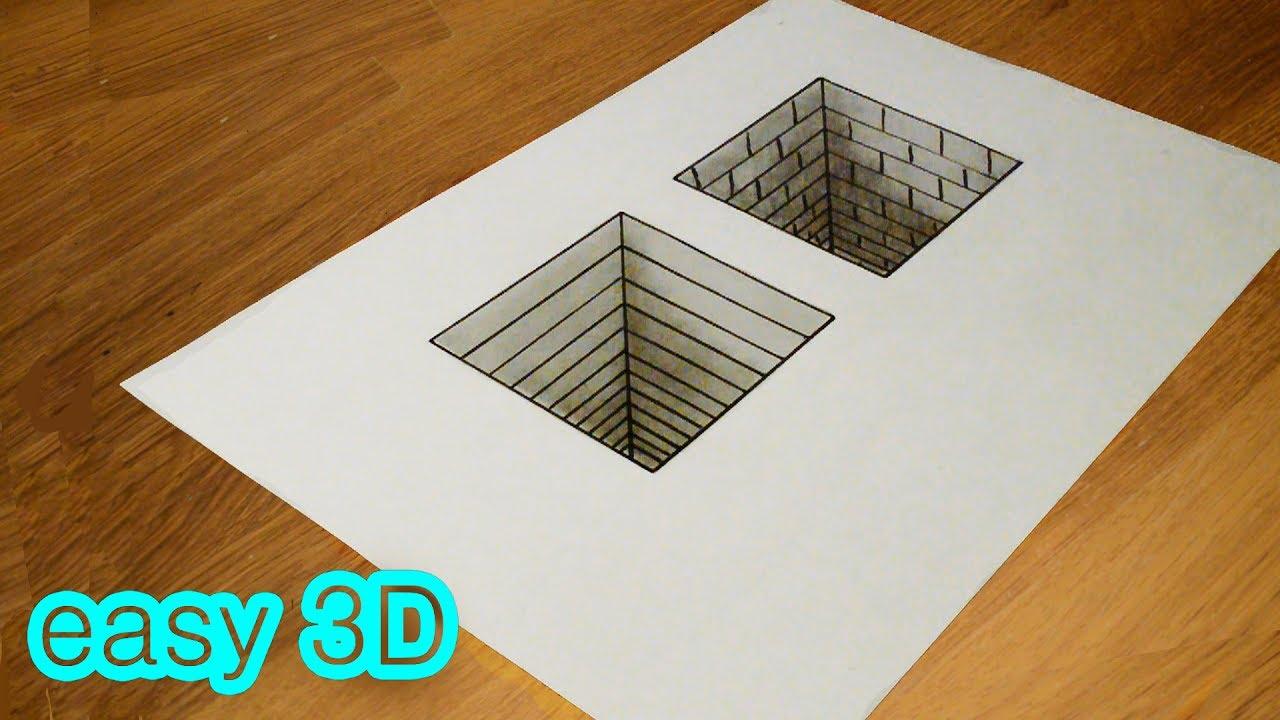 3d 3 youtube for Simple 3d art