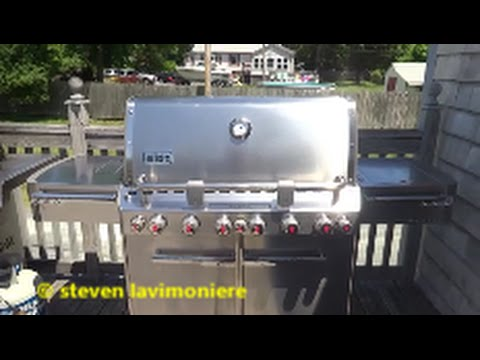weber natural gas grill install part 1 of 2